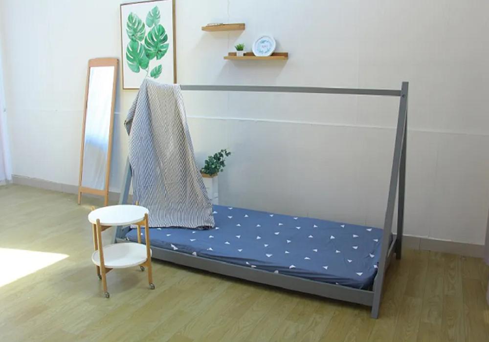 Pat Montessori, lemn de pin, gri, GROSI