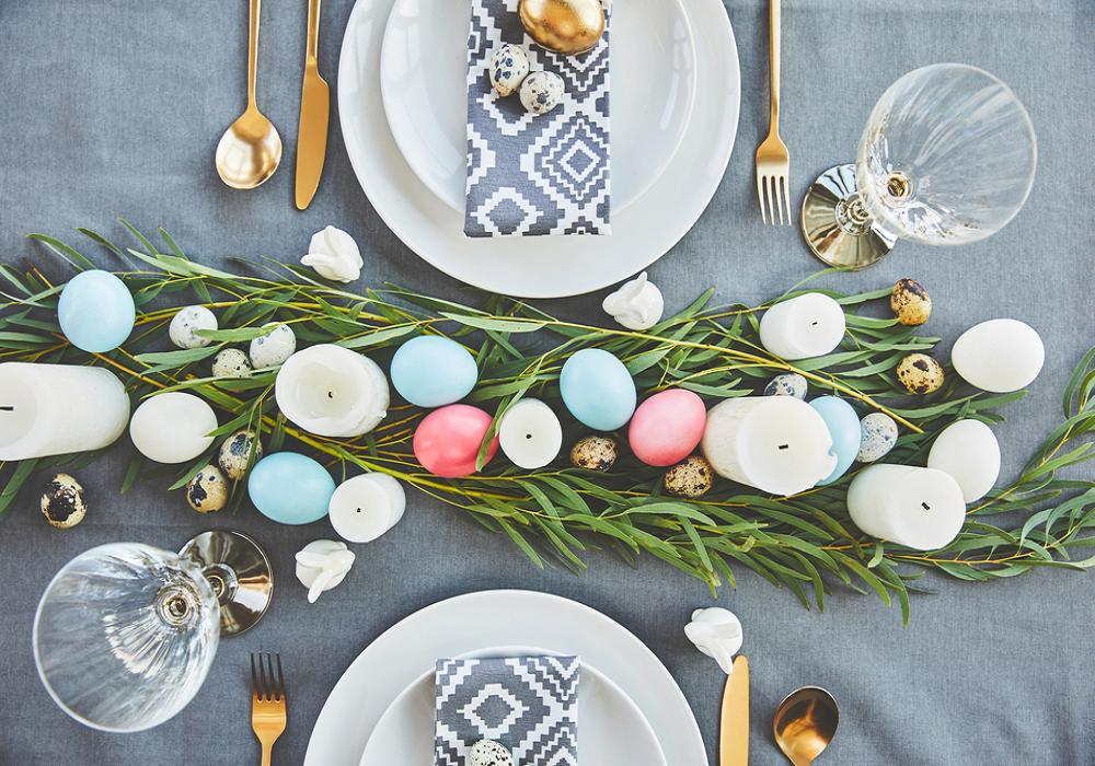 Stôl ozdobený na Veľkú noc