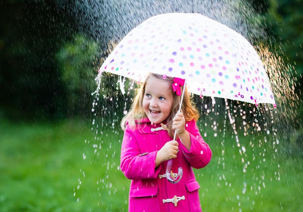 Dievčatko s dáždnikom