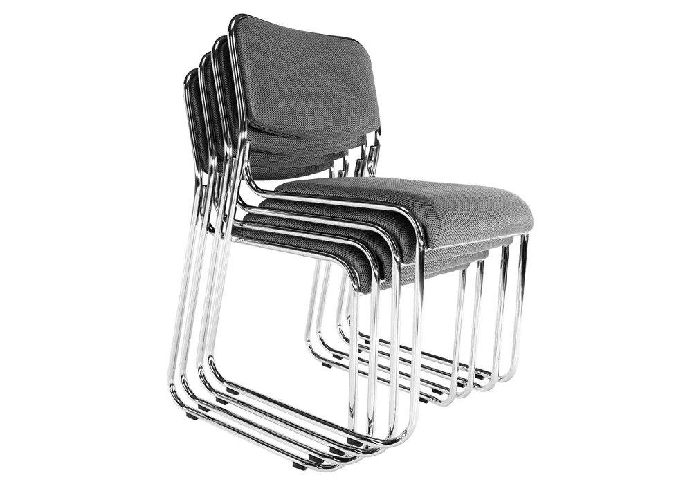 Stohovateľná stoličky Bulut, s kovovou konštrukciou
