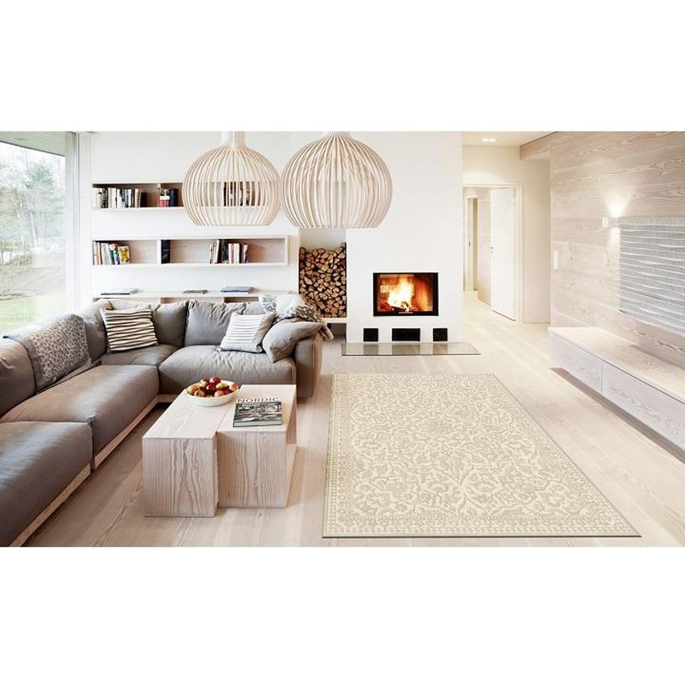 Krémový koberec Rohan