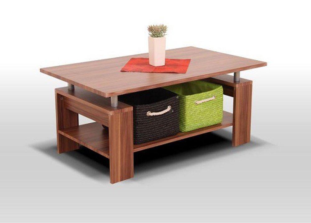 Konferenčný stolík Roko, svetlý orech, strieborná
