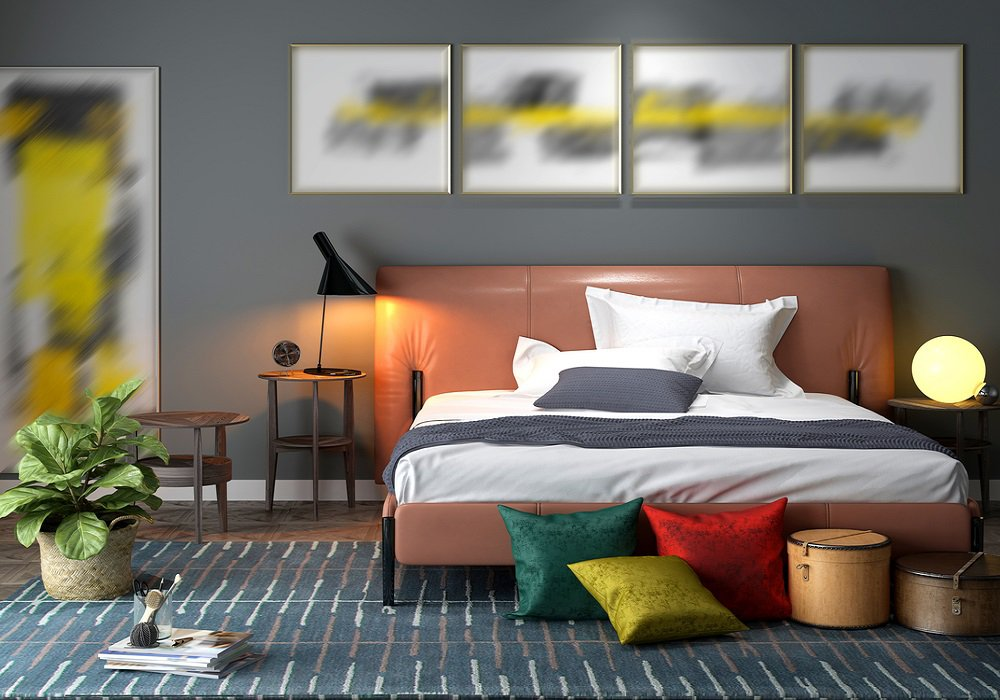 Spálňa plná farieb