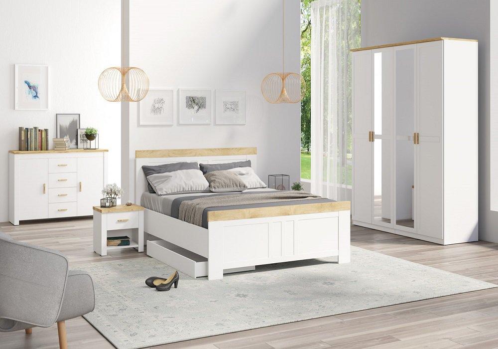 Spálňa s prvkami Škandinávie
