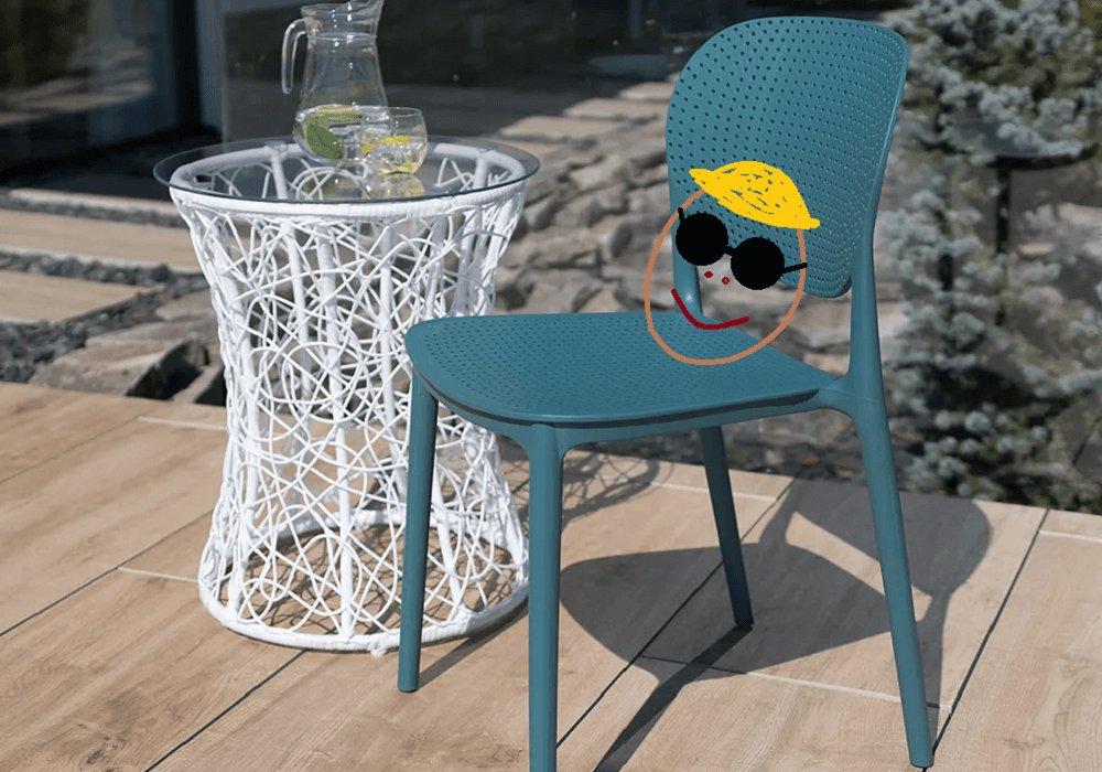 Stohovateľná stolička, modrá, FEDRA