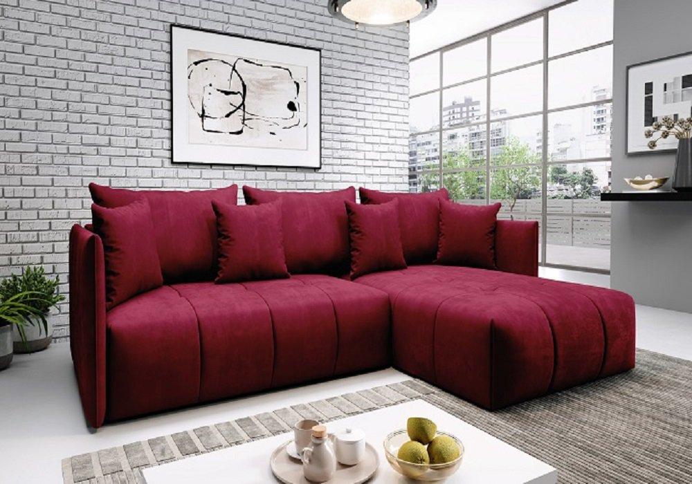 Univerzális ülőgarnitúra, piros, LENY ROH
