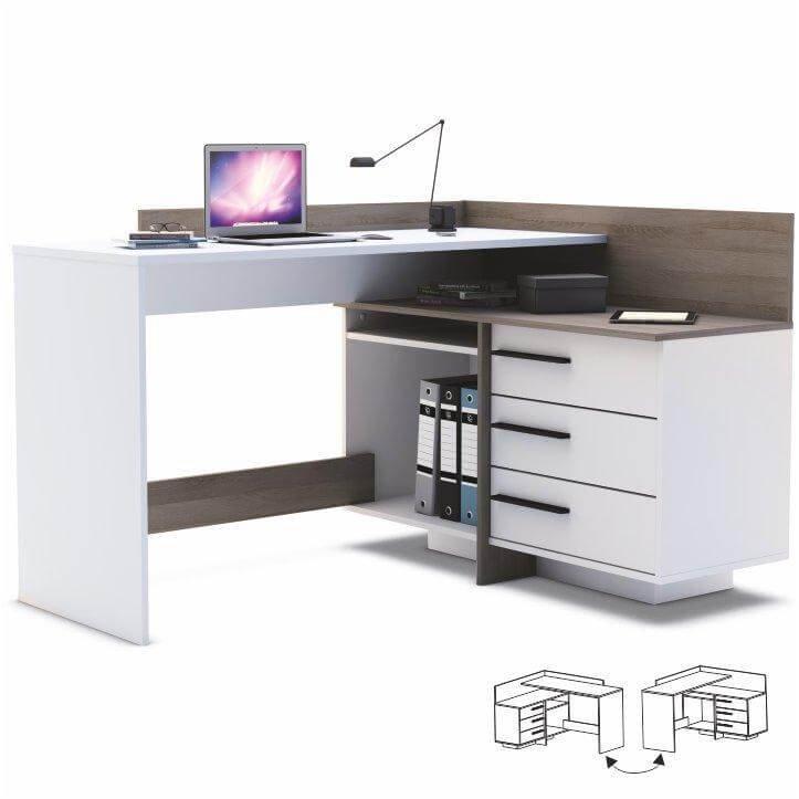 Písací stôl Tale biela