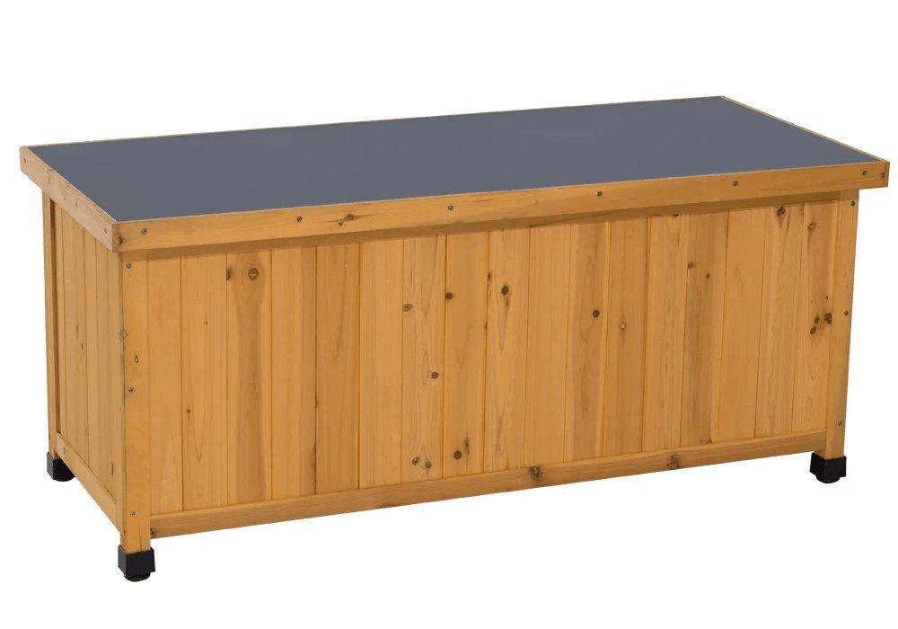 Záhradný úložný box, jelša/strieborná, NAKAN