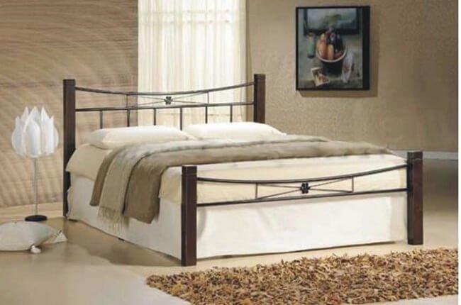 Kovová posteľ Paula s rozmerom 140x200 cm
