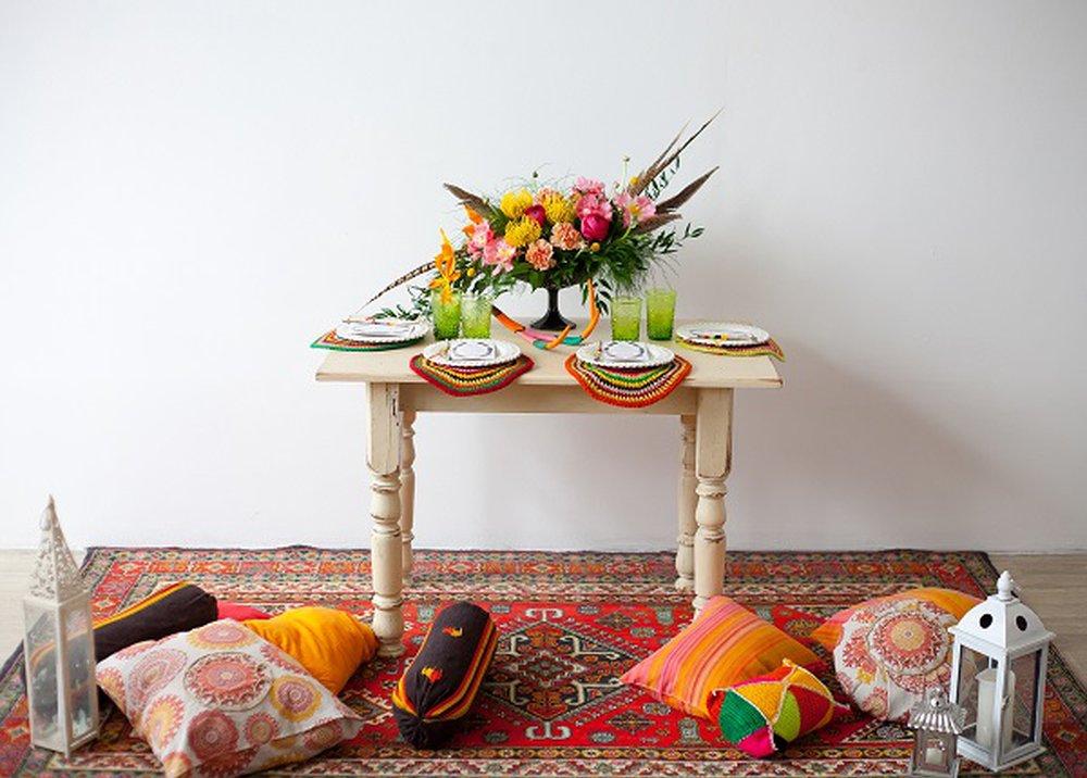 Farby a vzory v miestnosti