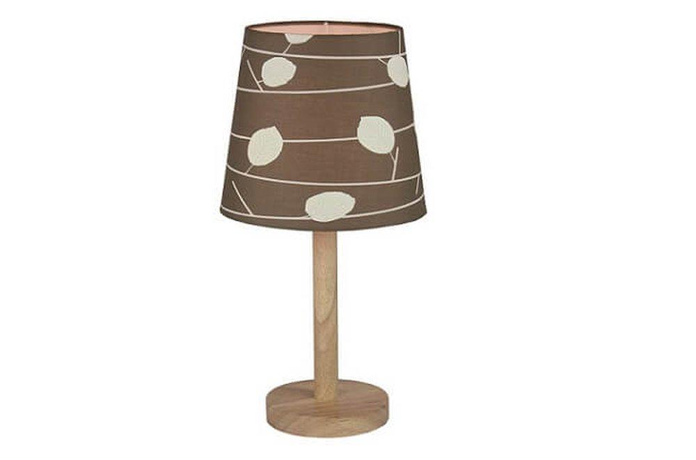 Stolná lampa  Qenny so vzorkovaným tienidlom