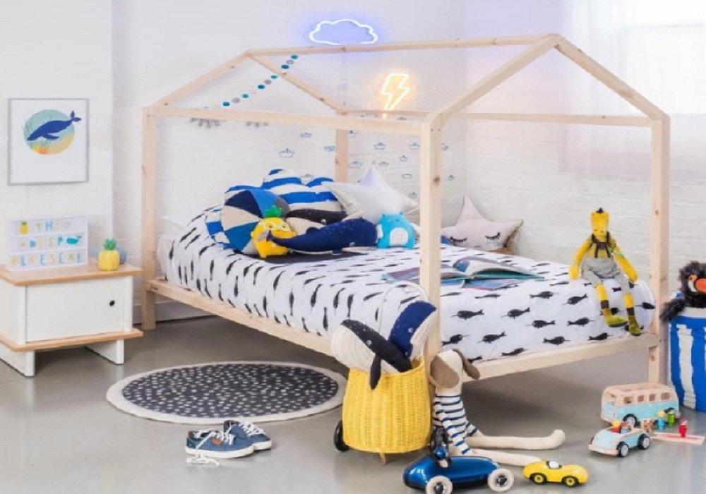 Montessori posteľ v tvare domčeka Impres