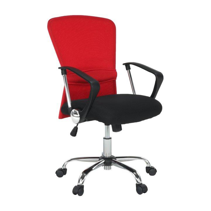 Kancelárske kreslo Aex v červeno-čiernej látke