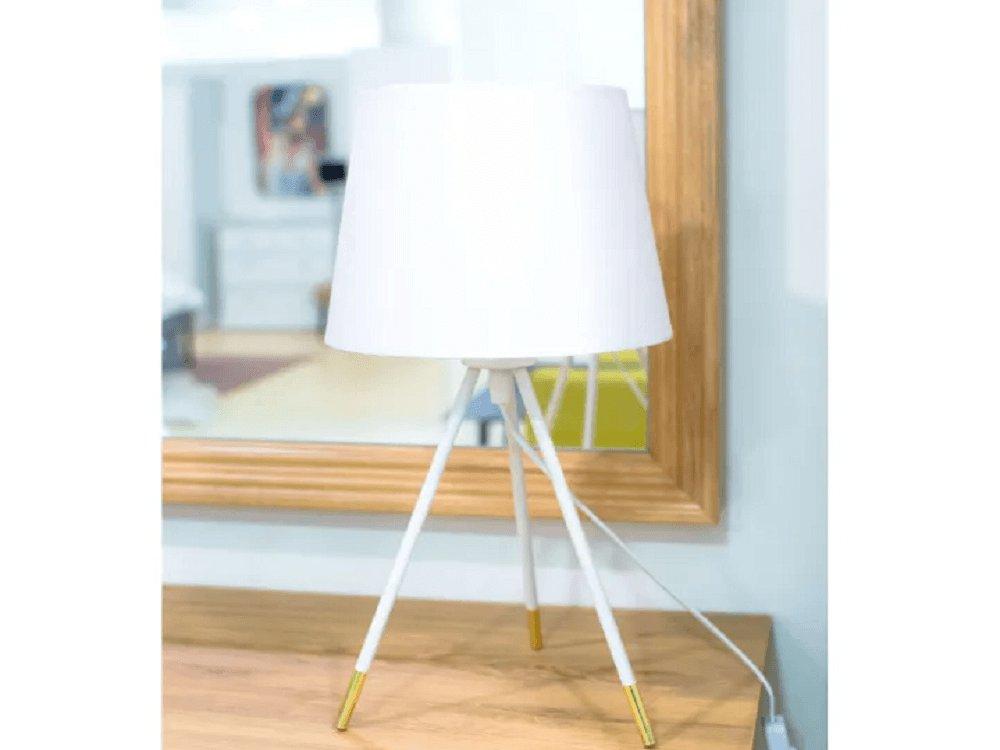 Lampa Jade s bielym tienidlom