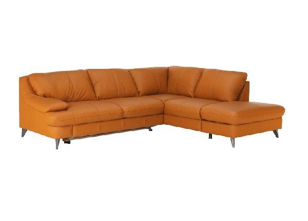 Rohová kožená sedačka Libera