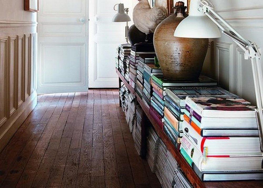 Knihy v predsieni