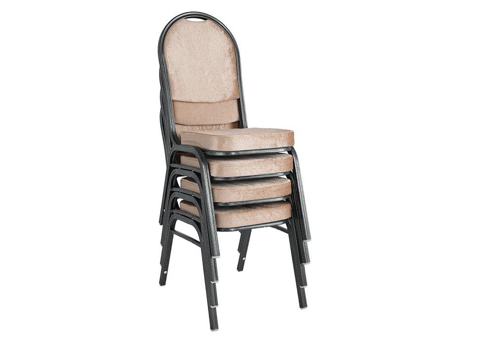 Stohovateľné stoličky Jeff, čalúnené
