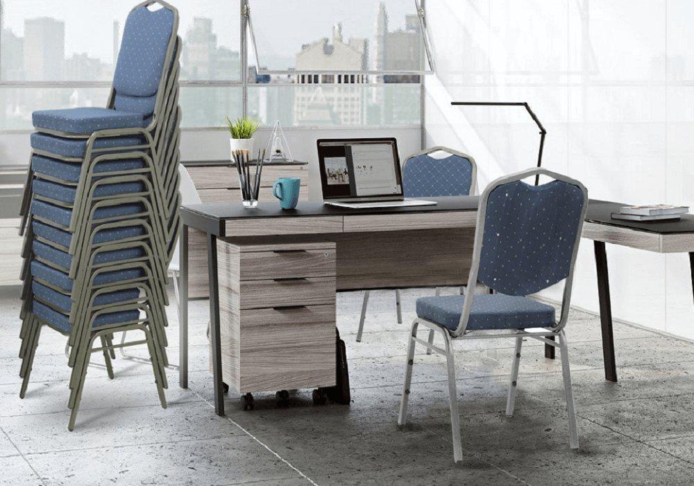 Stohovacie stoličky Zina, čalúnené