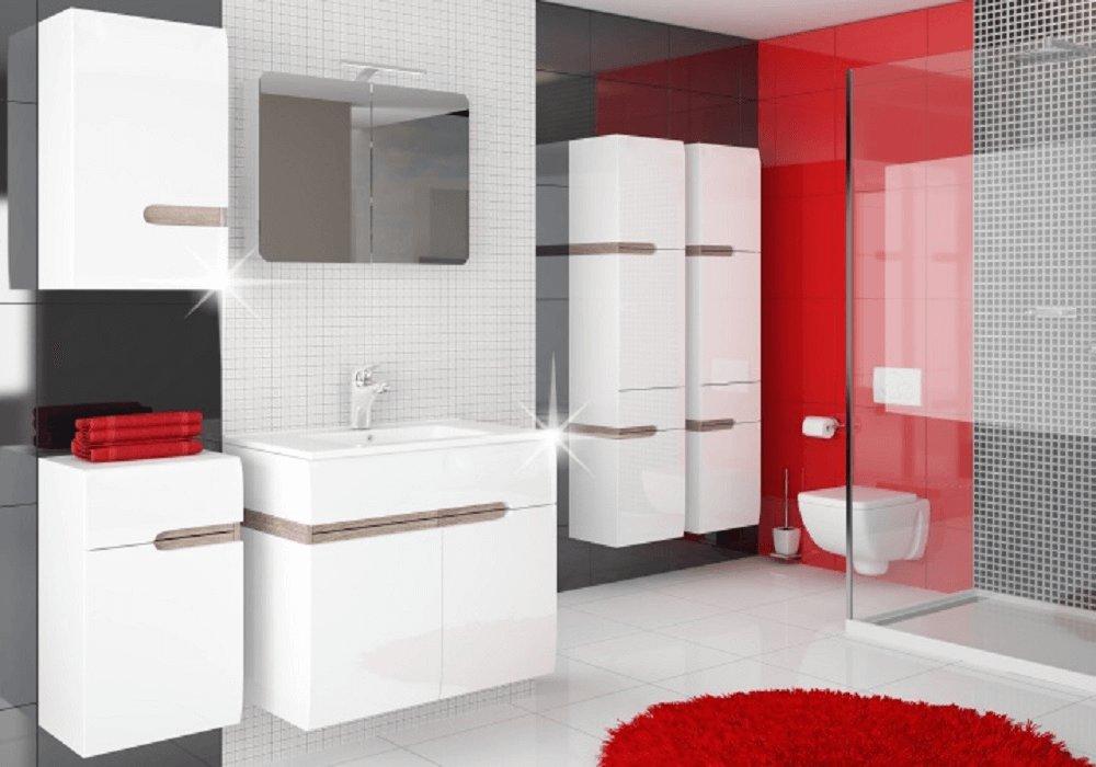 Moderná kúpeľňa Lynatet vo vysokom lesku