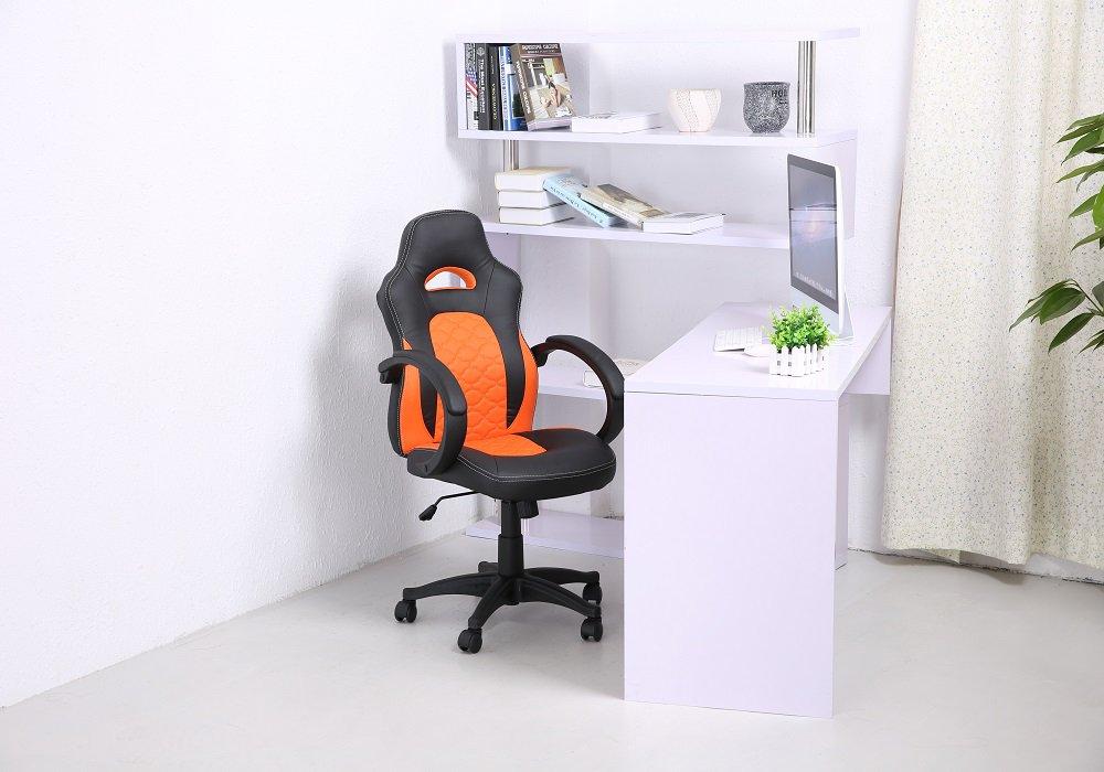 Kancelárske kreslo Nelson, čierna a oranžová