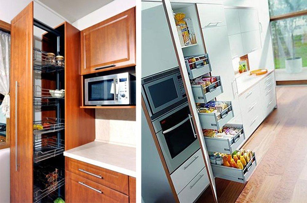 Úložný systém v kuchyni