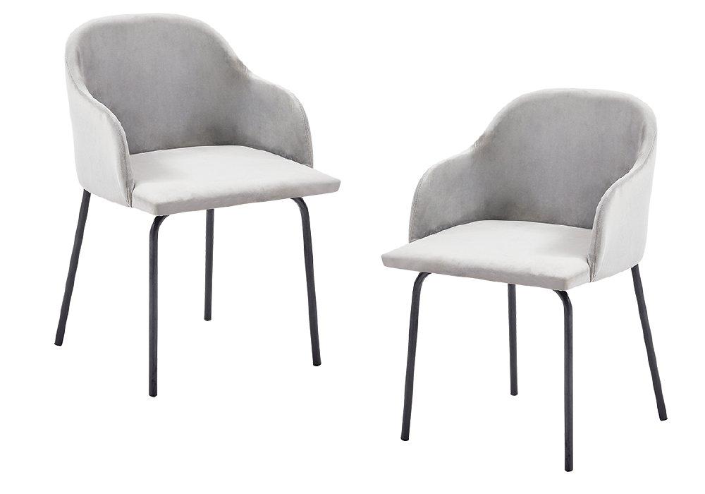 Jedálenské stoličky Dival vo Velvet látke sivej farby
