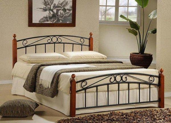 Manželská kovová posteľ Dolores
