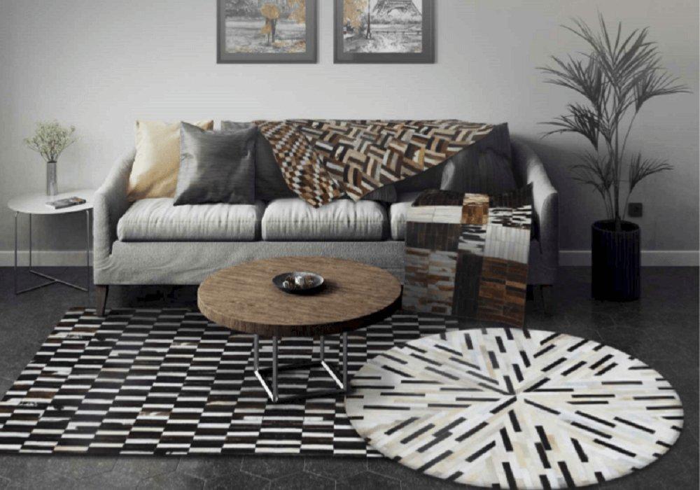 Kožený luxusný koberec