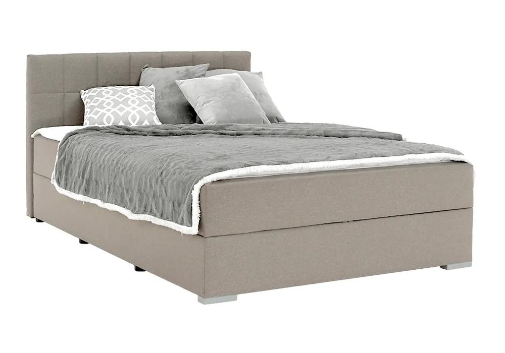 Boxspringová posteľ 120x200 sivohnedá TAUPE, FERATA TV KOMFORT