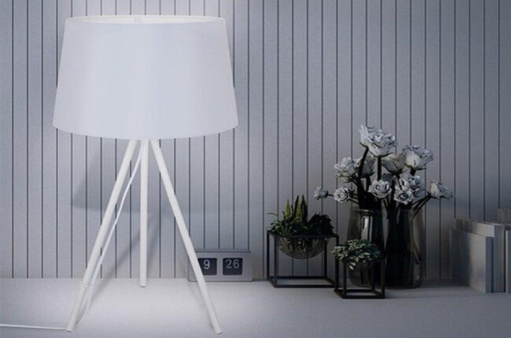 Stolná lampa Milano matná biela