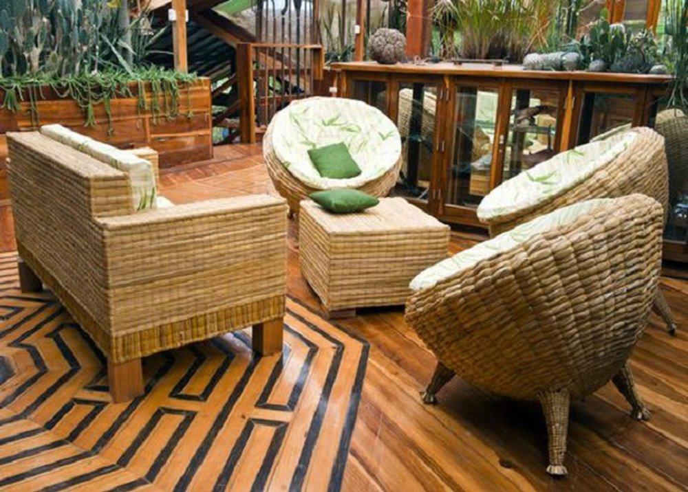 Záhradný bambusový nábytok