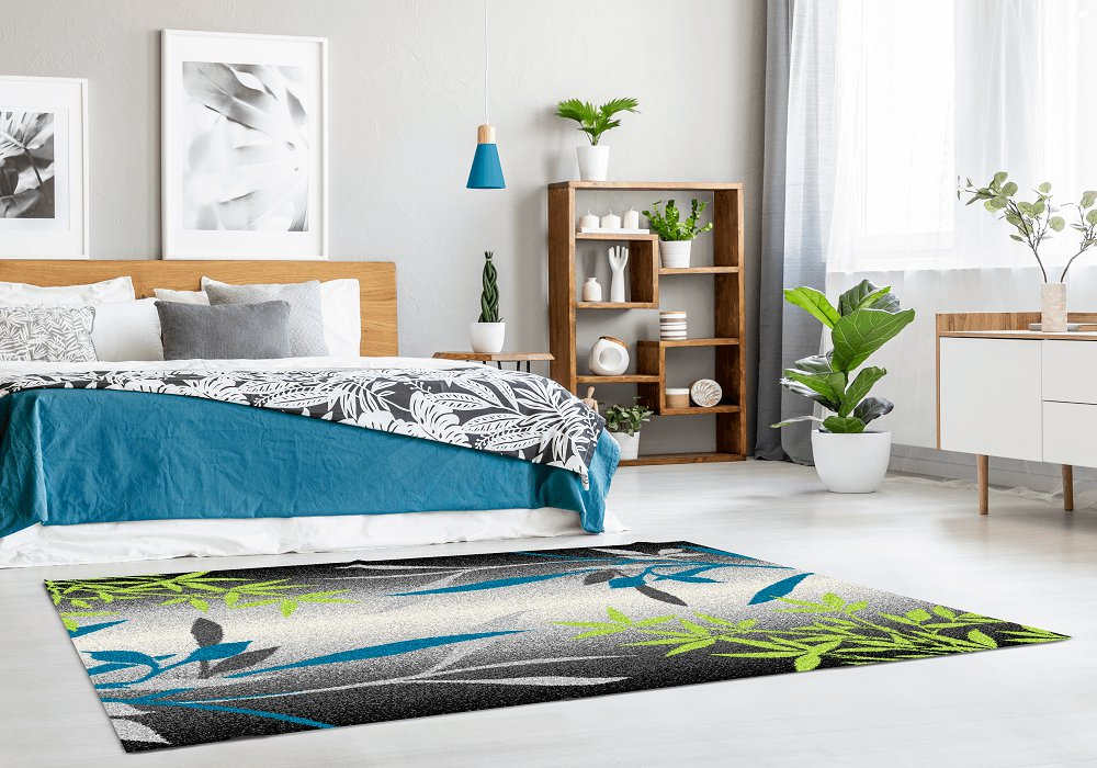 Covor, model frunze, multicolor, 57x90, TASNIM