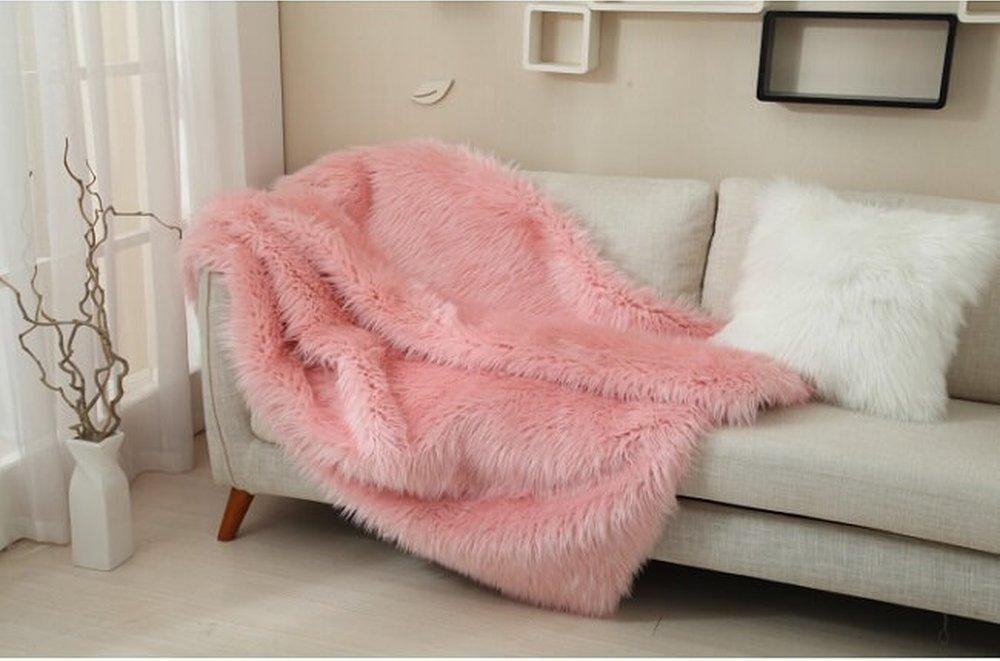 Ružová kožušinová deka Ebona