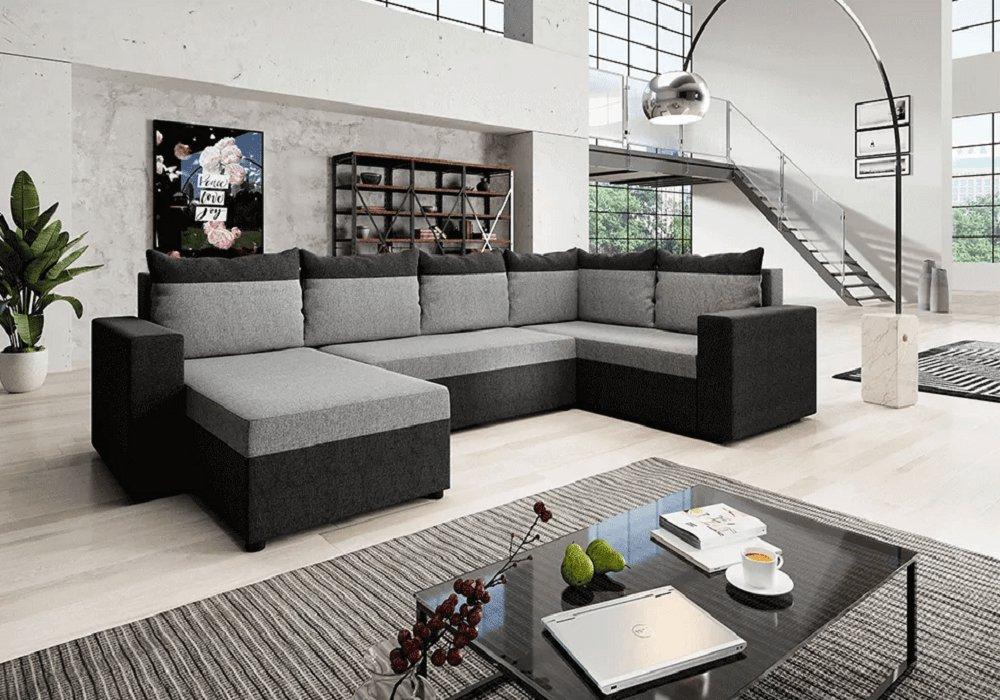 Univerzális ülőgarnitúra, sötétszürke/szürke, LONDON U