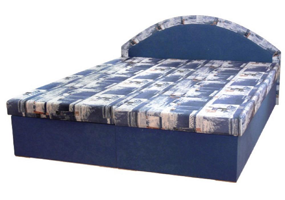 Dupla ágy, kék, EDVIN