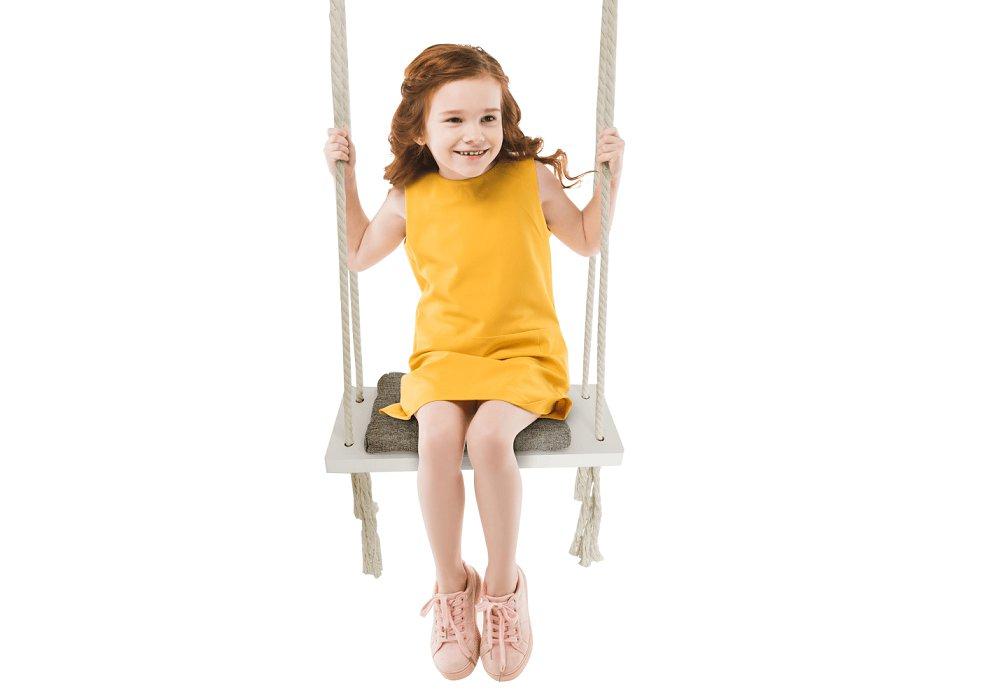 Leagăn pentru copii, alb / gri, SVING