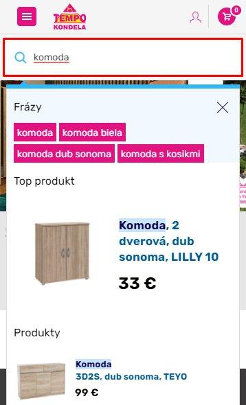 Vyhľadávanie na kondela.sk