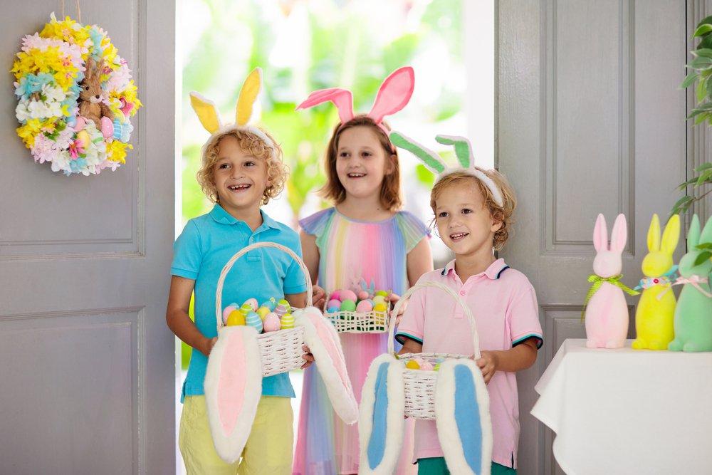 Deti sa tešia z Veľkej Noci