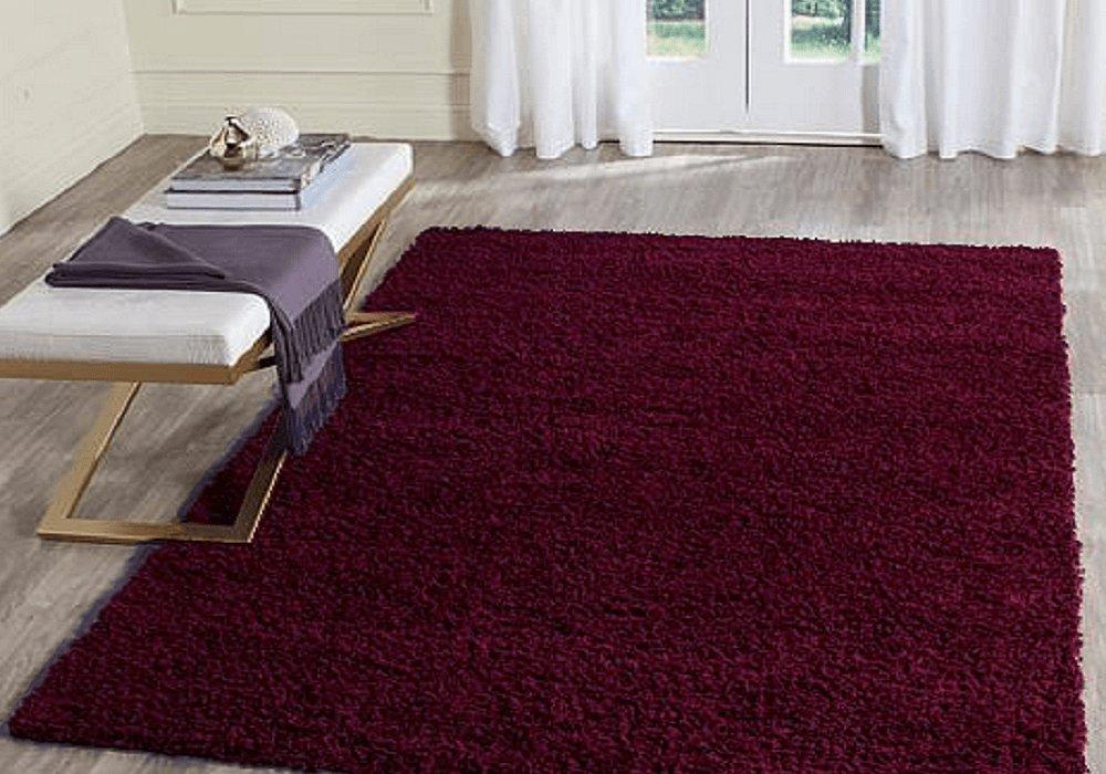 Vínovočervený koberec Luma