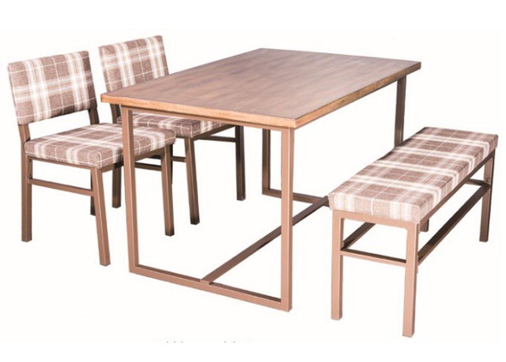 Set Lakin so stolom, lavicou a stoličkami