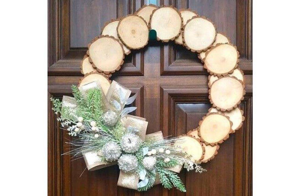 Handmade vianočný veniec na dvere
