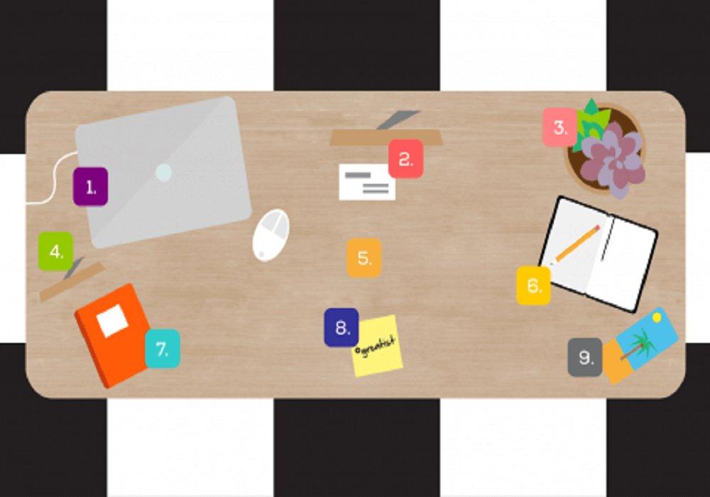 9 oblastí na pracovnom stole