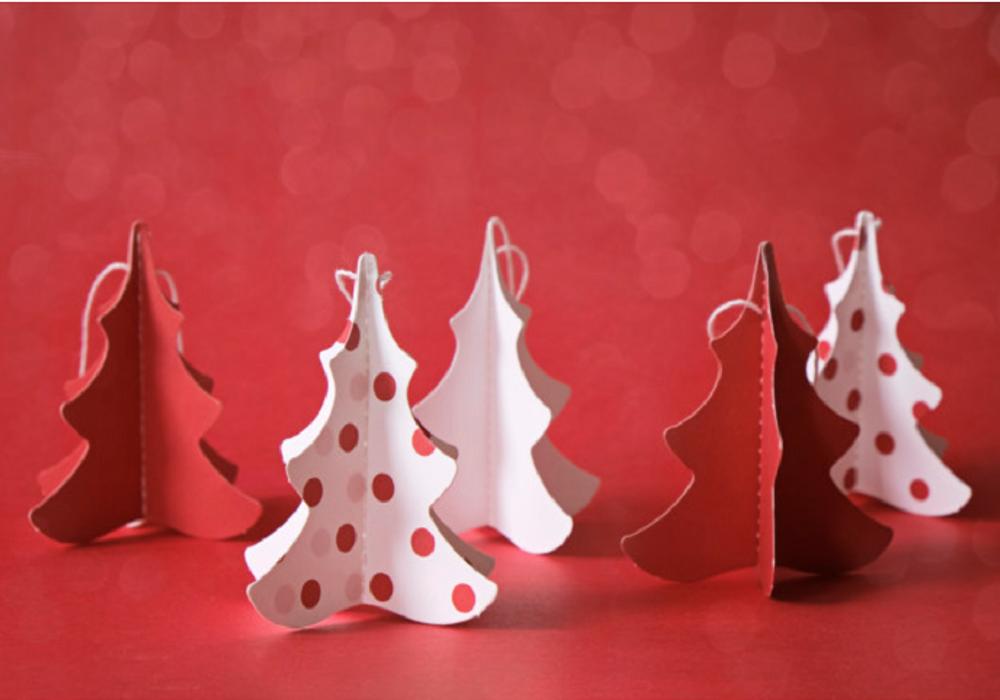 Vianočné stromčeky z papiera