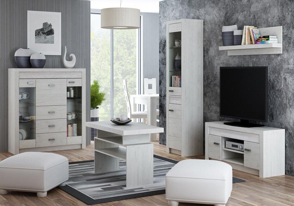 Nábytok Infinity v prevedení jaseň biely