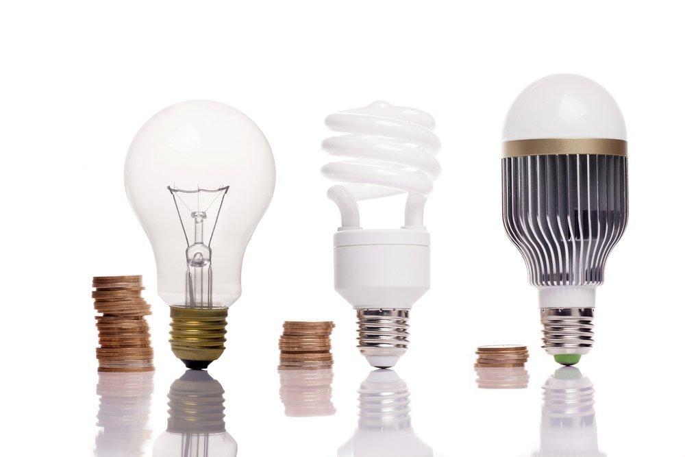 Rôzne typy žiaroviek s rôznymi závitmi