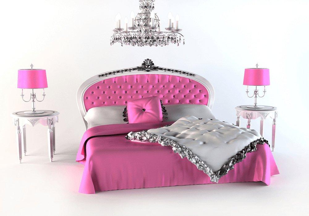 Ružová posteľ
