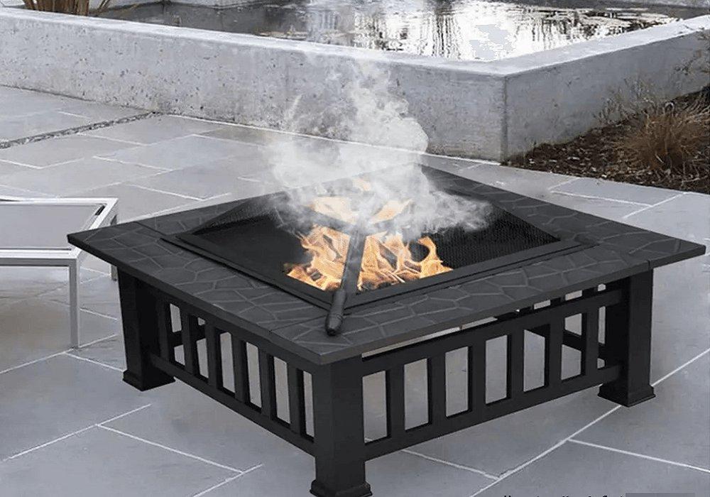 Hordozható tűzrakóhely grillráccsal és villával CHAMON