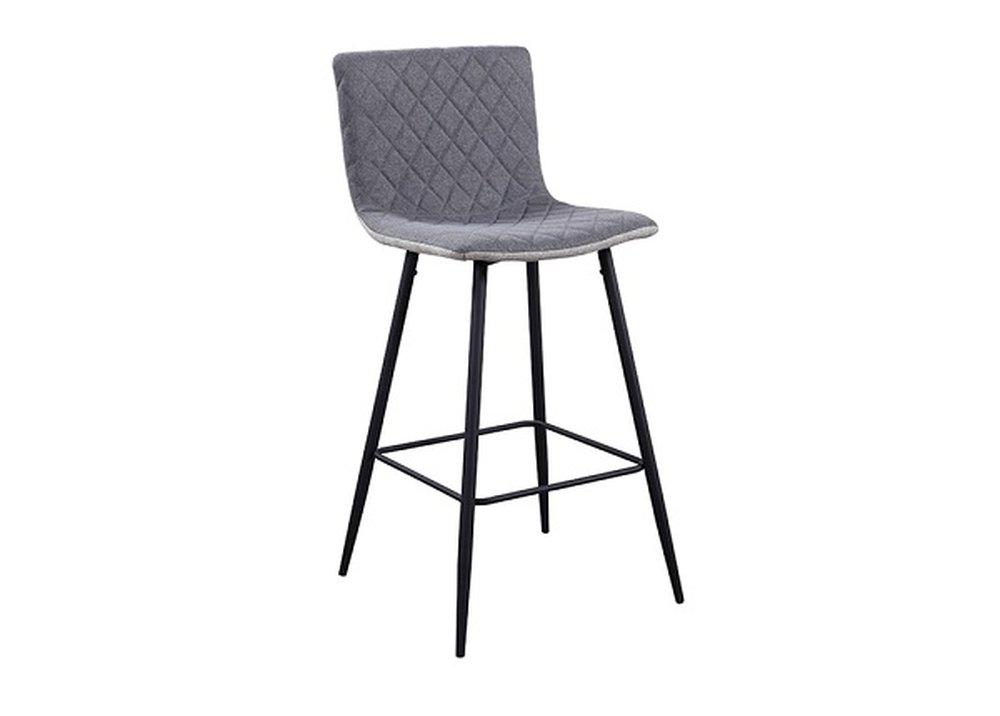 Barová stolička v sivej látke Torana