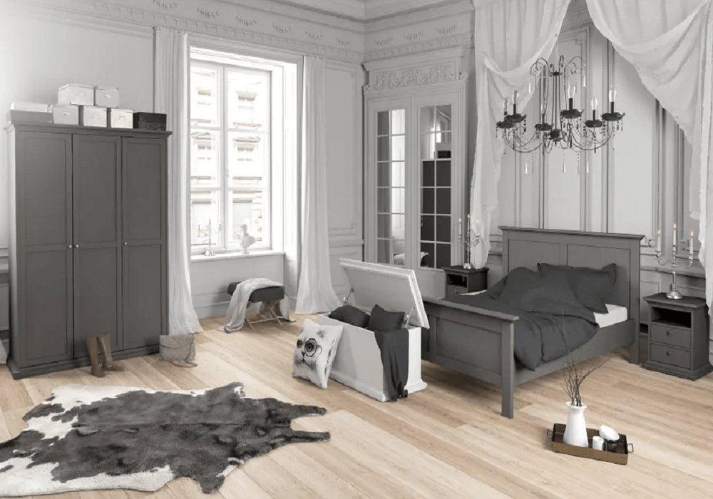 Zostava nábytku do spálne Paris sivá
