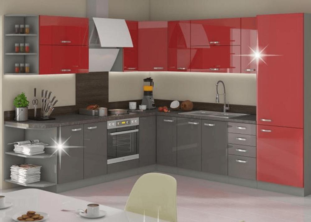 Kuchynská linka Prado v červenej farbe
